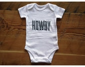 Howdy Onesie, perfect for Baby Announcement photos