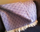 Wool Blanket - Light Purple & Cream