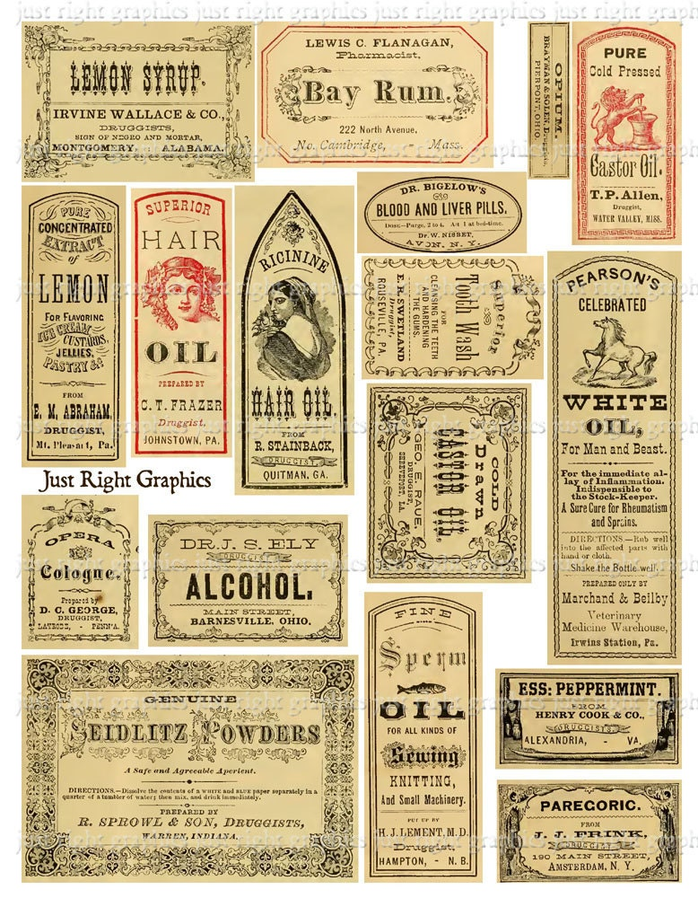 Inventive image pertaining to printable vintage labels