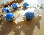 "Handmade fashion Bracelet, ""BLUE NOBLE"", T-B-012"