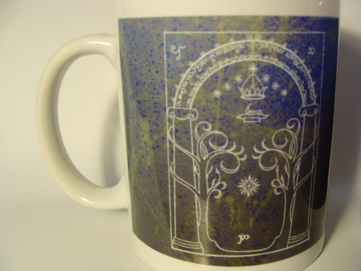 The Doors Of Durin Lord Of Moria 11 Oz Blue Coffee Mug
