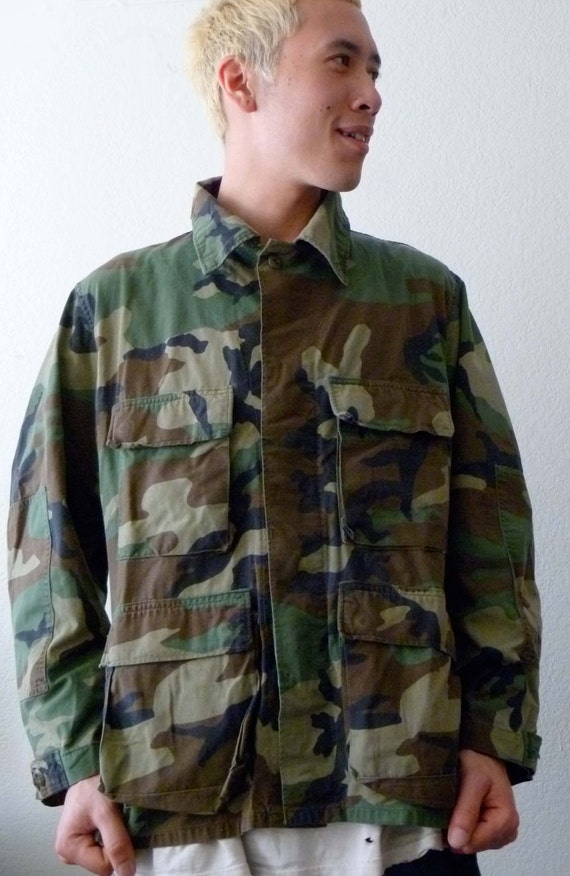 RESERVED For Jessi Hard Army Dreamer CAMO Field Jacket UNISEX