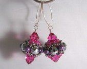 Beaded Bead Earrings Reserved
