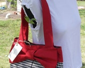 Hand-made Handbag Roll Tide Houndstooth.