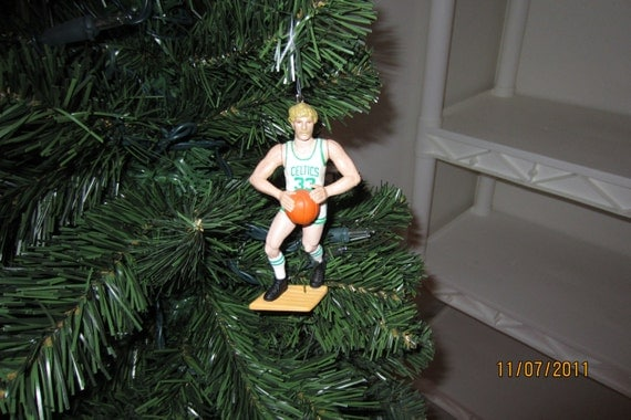 Larry Bird Boston Celtics custom basketball christmas sports ornament many to choose from.