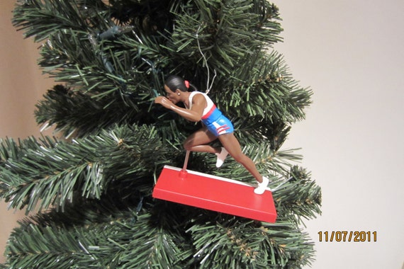 Jackie Joyner Kersee Track and Field custom christmas sports ornament many to choose from.
