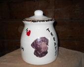 Handmade Ceramic Chocolate Lab Treat Jar
