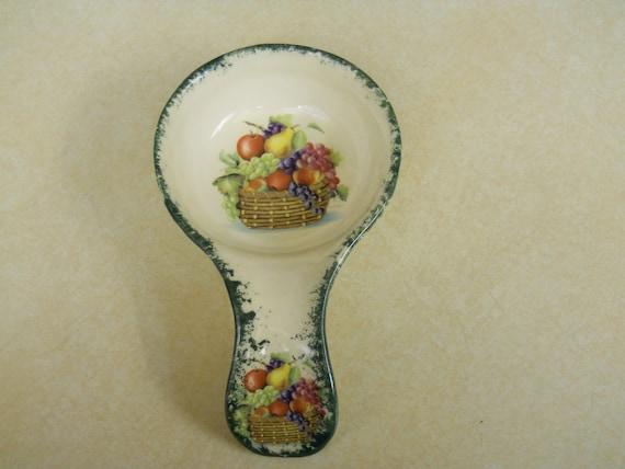 Fruit Basket Large Spoon Rest