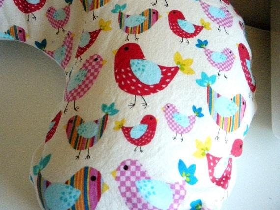 Colorful Birds Boppy Slipcover