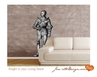Midieval Times Knight Fabric Wall Decal