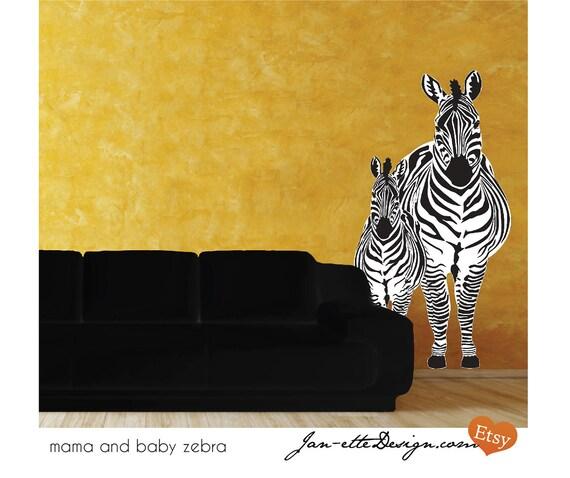 Zebra Fabric Wall Decal, Wall Art, Wall Sticker, Zebra Wall Art