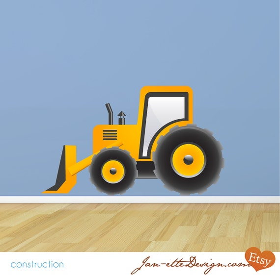 Truck Wall Decal, Kids Dozer Truck wall Sticker, Truck Wall Art, Boys Wall Stickers
