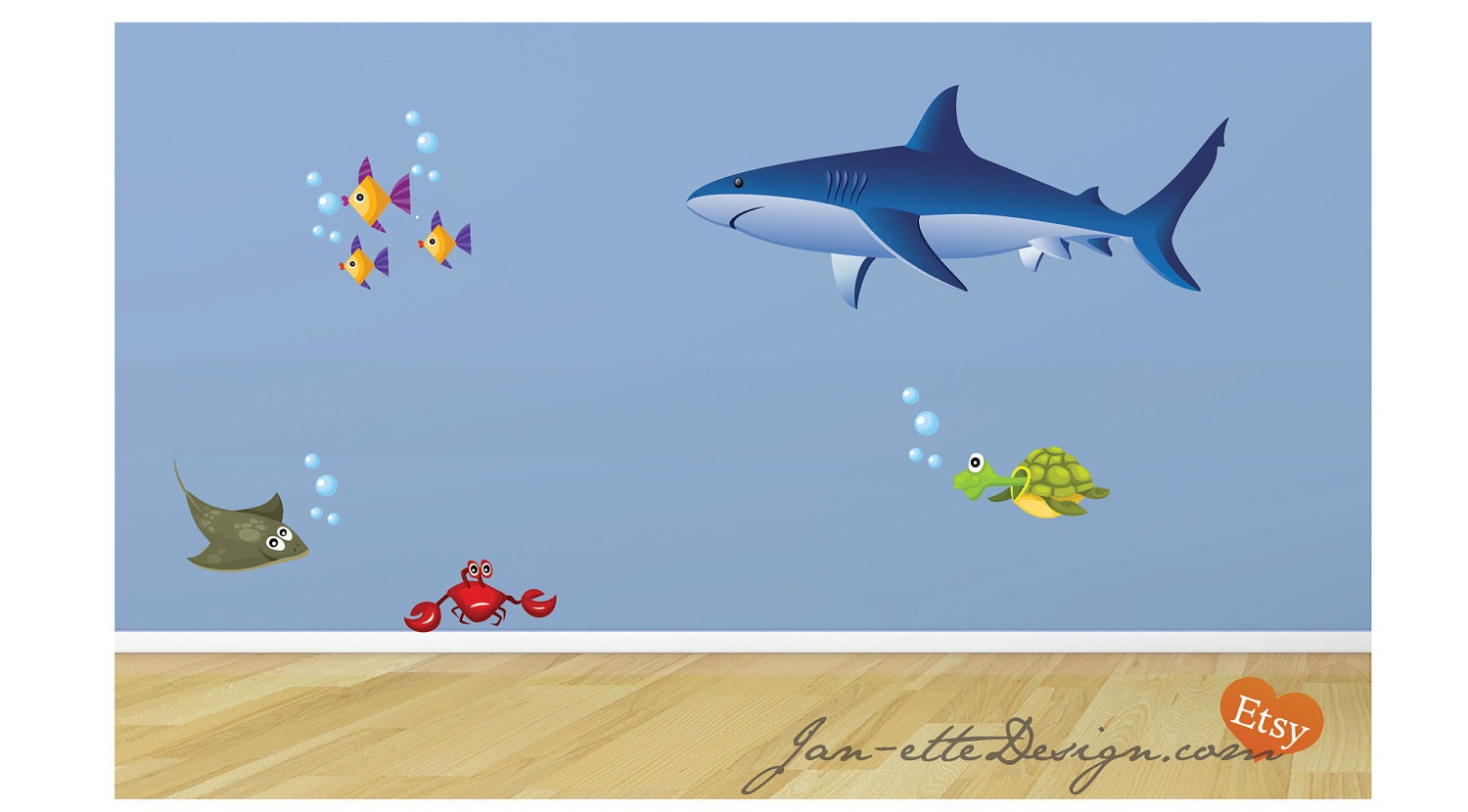 reserved shark fabric wall decal. Black Bedroom Furniture Sets. Home Design Ideas
