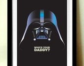 Star Wars Retro Poster, Film Poster, Darth Vader, Retro Poster A4