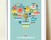 CATHRINEHOLM Mid Century Modern, Poster Print - visualphilosophy