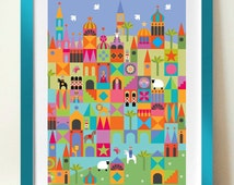 Nursery Print, Kids Room Art, Mid century Modern, Childrens poster print