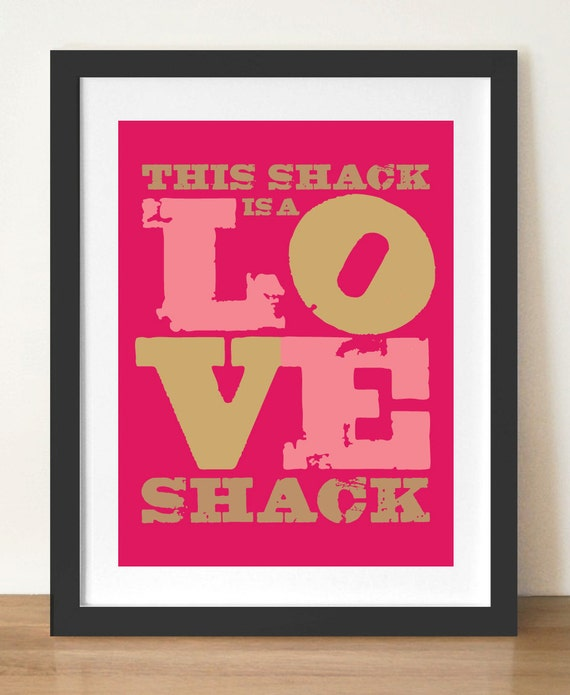 Typography Poster, Wall Decor, home interior,  pink poster print, 11.5 x 16.5 (A3) digital print