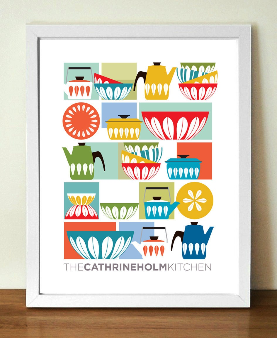 Kitchen print cathrineholm mid century modern by for Kitchen art pictures