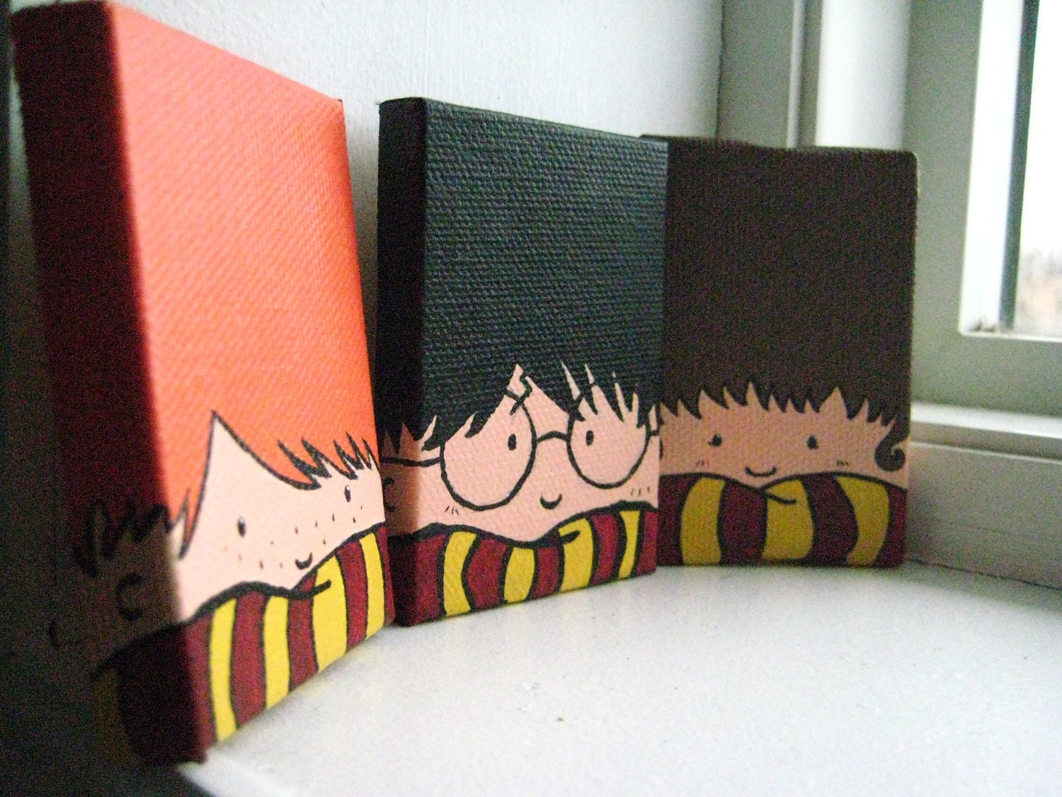 Painted Harry Potter Trio Magnets - photo#46