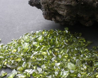 Natural Gemstone Peridot Undrilled Tumble Polished Small Size - 60 Grams