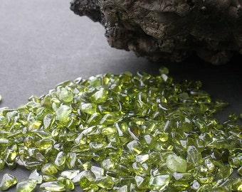 Natural Gemstone Peridot Undrilled Tumble Polished Small Size - 60 Grams