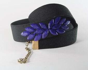 SALE, purple waist belt, woman stretch belt, dark purple belt, black dress belt, custom dress belt, elastic belt, purple bridesmaid belt