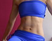 Bandeau in blue for Bikram yoga