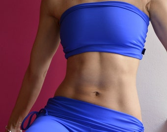 Bandeau in blue for Bikram yoga