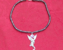 Dragon and Pearls Charm Necklace