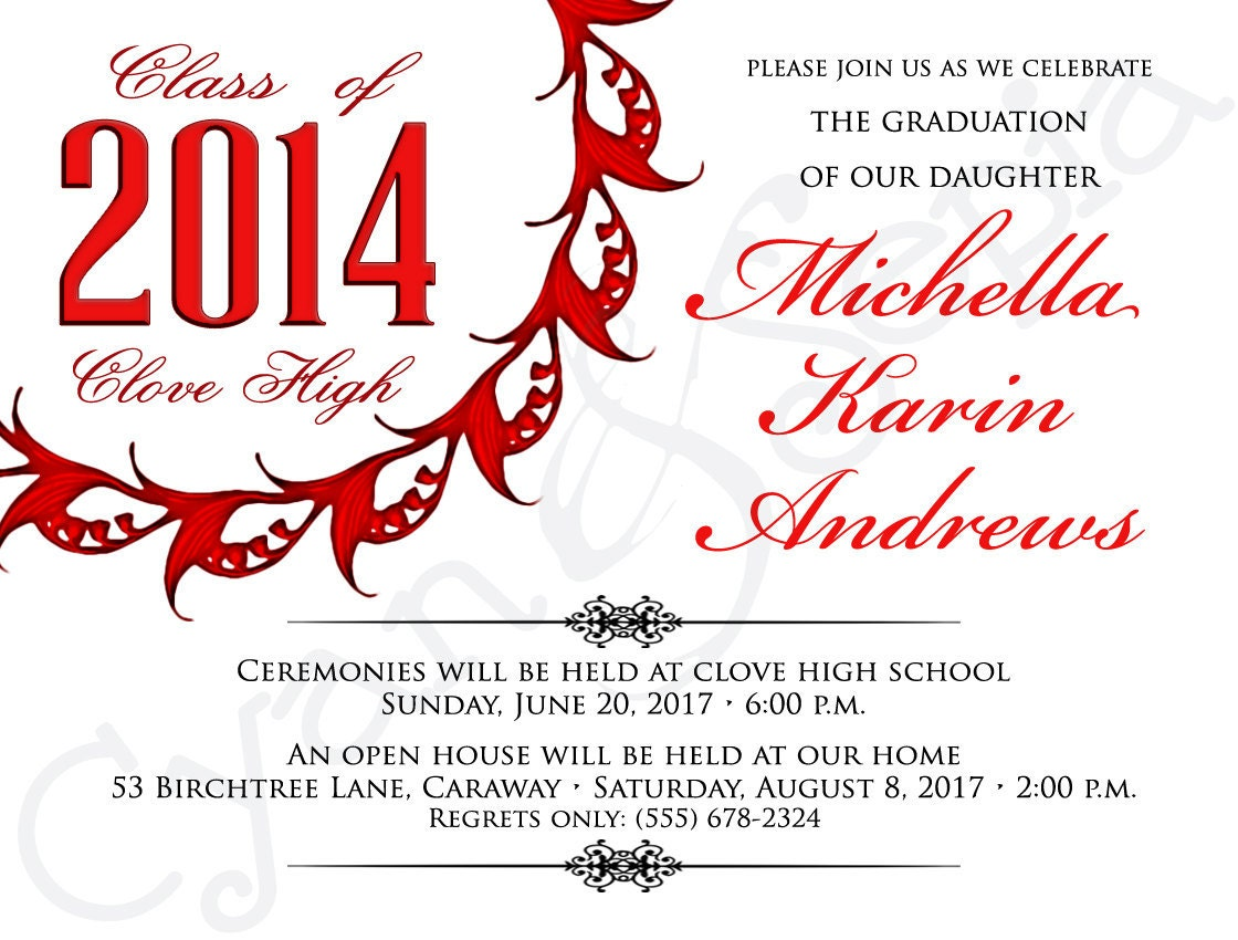 It is a picture of Irresistible Printable Graduation Announcement