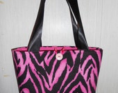 Pink and Black Zebra Print Purse FREE SHIPPING