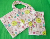 Pink fairy bib set