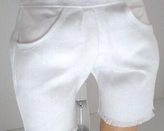 Basic White Cut Off Shorts