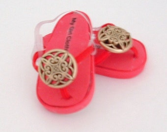Red Medallion Sandals