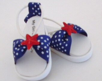 Blue Polka Dot Sandals