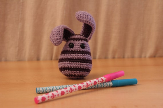 RESERVED for Ariane - Bee like Bunny (crocheted rabbit)
