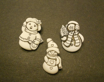 the snowman family buttons, 30 mm (11)