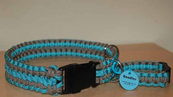 Custom Dog Collar and Matching Survival Bracelet