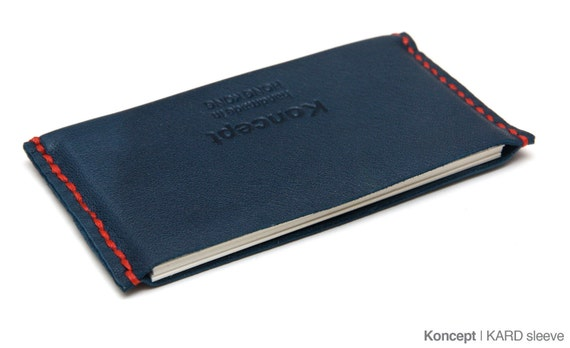 KARD leather cardholder (Navy blue limited edition)