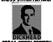 Cross Stitch Pattern - Dickhead