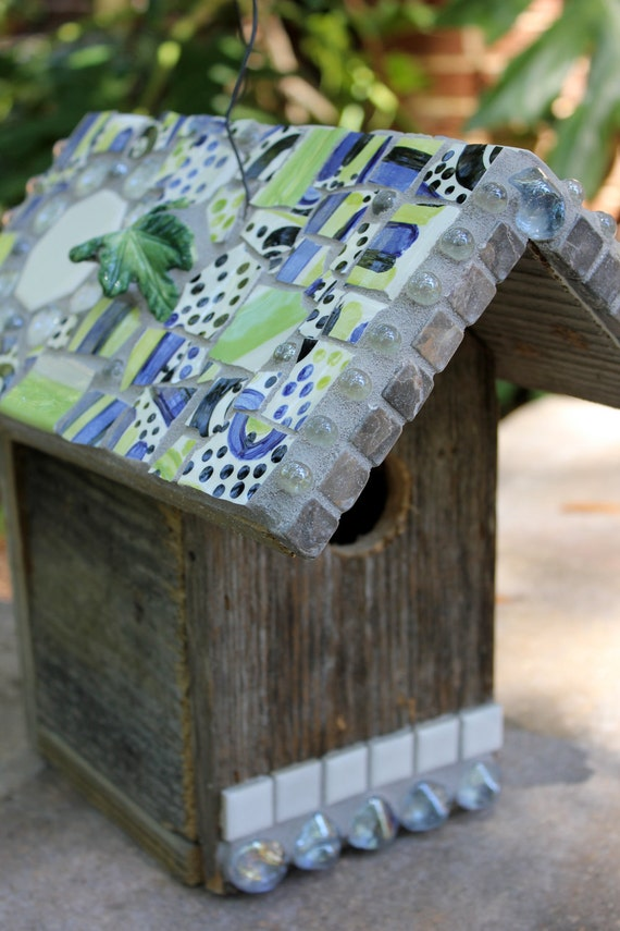 Rustic Mosaic  Birdhouse