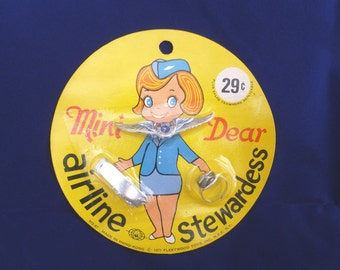 Vintage 1971 Toy Airline Stewardess  NOS Made in Hong Kong 1970s, Rare Gag Gift for Pilots, Flight Attendants, Fun Retro Gift