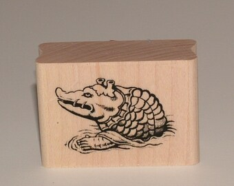 Gator Crocodile Rubber Art Stamp