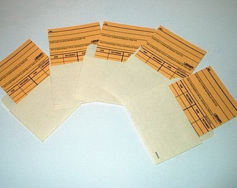 Library Book Cards and Book Card Pockets Sets Lot of 5 FREE SHIPPING