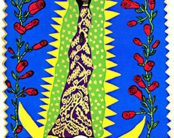 Virgen de Guadalupe Tonantzin Prayer Card  SHIPPING INCLUDED