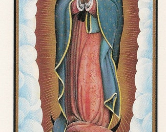 Nuestra Senora de Guadalupe Prayer Cards  SHIPPING INCLUDED