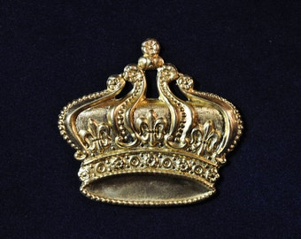 One Large Royal Crown Decorative Element SHIPPING INCLUDED