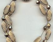 Vintage CORO Bracelet, Winged Horse Style Signature, Older Design, Gold Tone