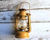 Vintage Yellow Mustard Metal Lantern