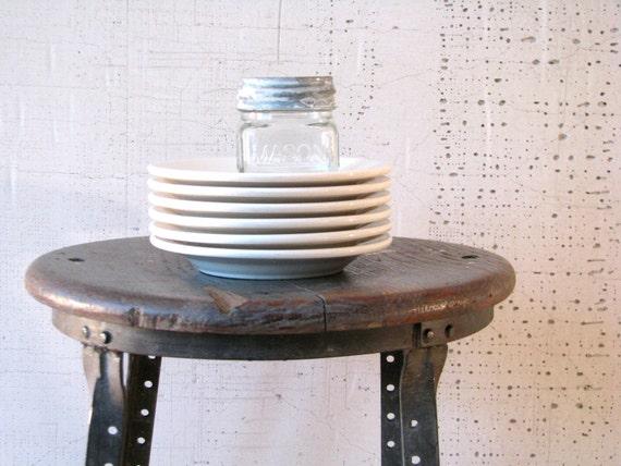 buffalo china bread or appetizer plates - set of 6  urban farmhouse style modern minimal table settings kitchenwares